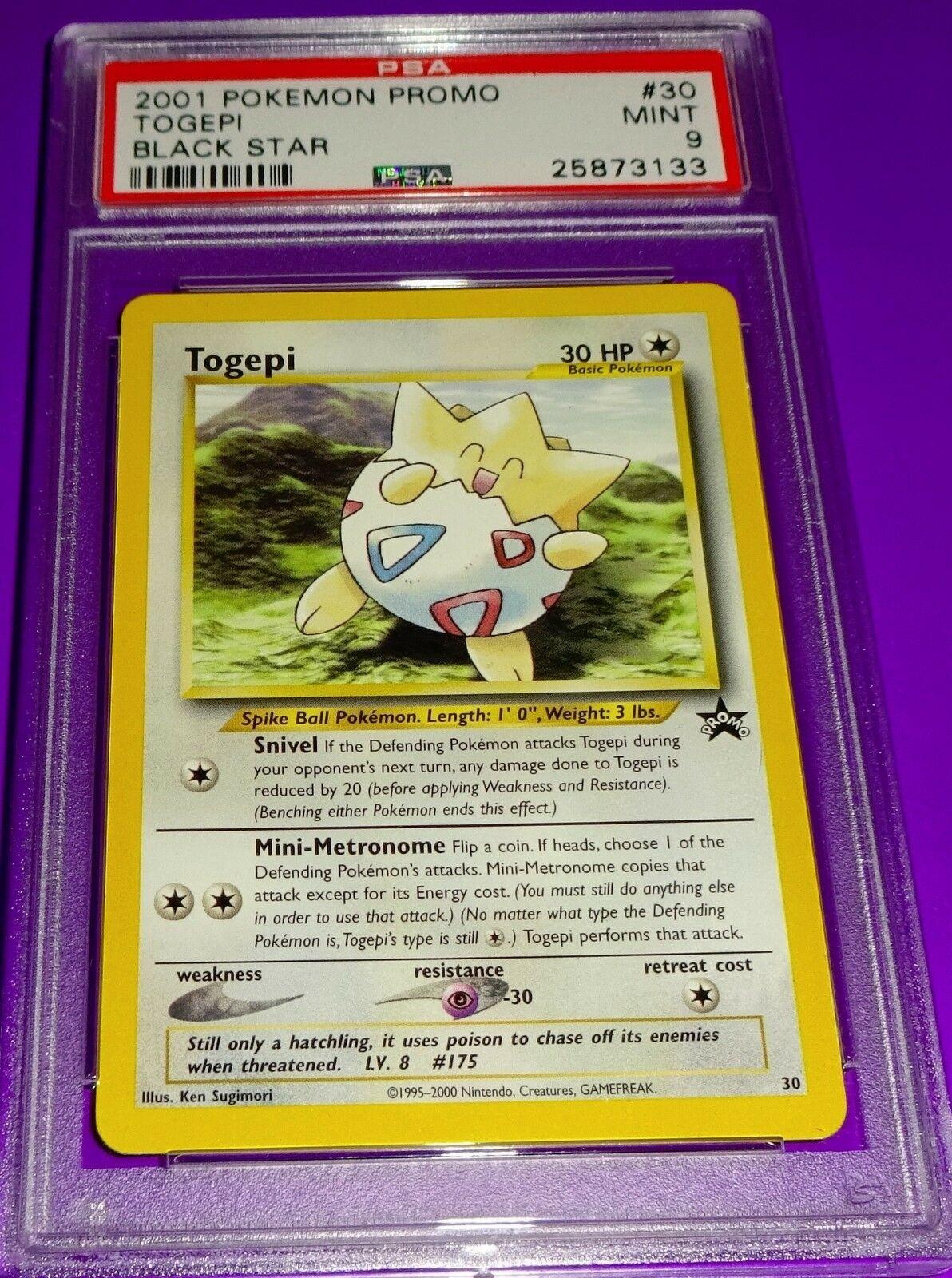 Pokemon TCG Cards Togepi 30 WOTC Black Star Promo NM-M