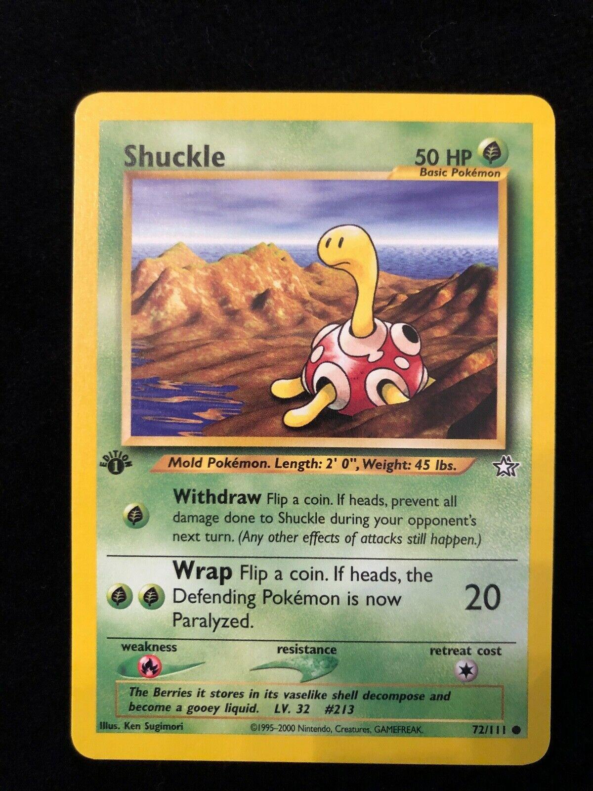 Shuckle 72//111 Neo Genesis Pokemon Card