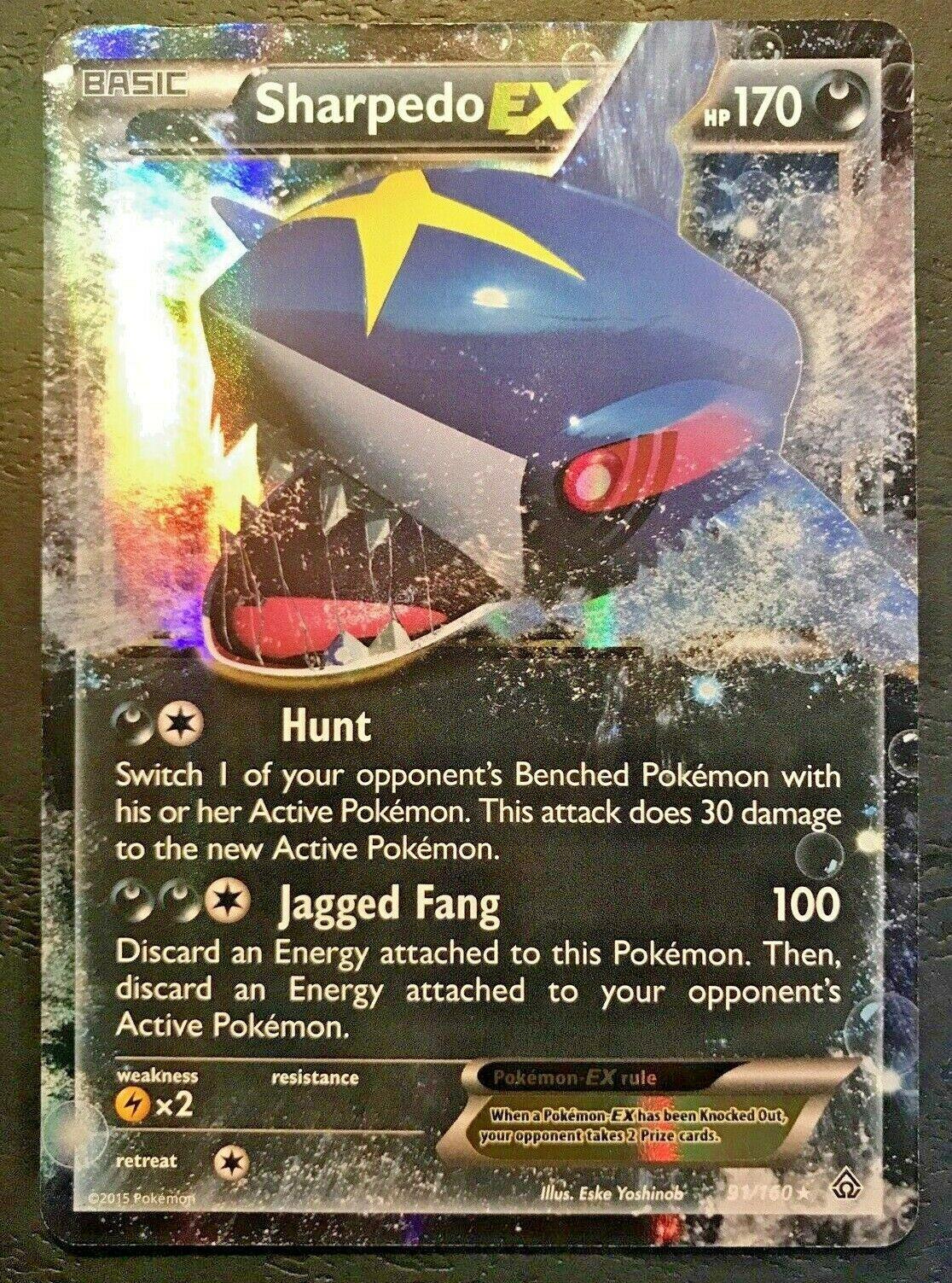 Sharpedo EX - XY Primal Clash - Holo - Pokemon - 91/160