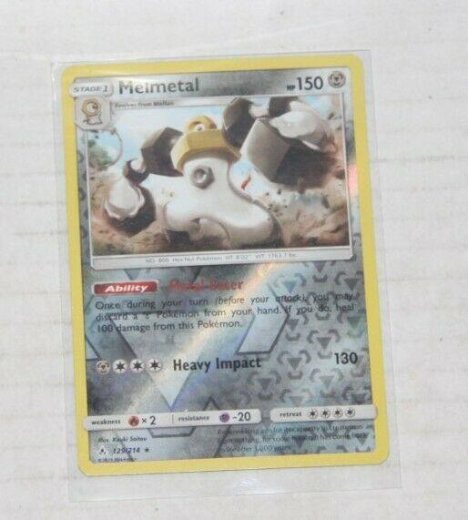 Melmetal (Reverse Holo) - Unbroken Bonds 129/214 Rare Pokemon Card Near Mint