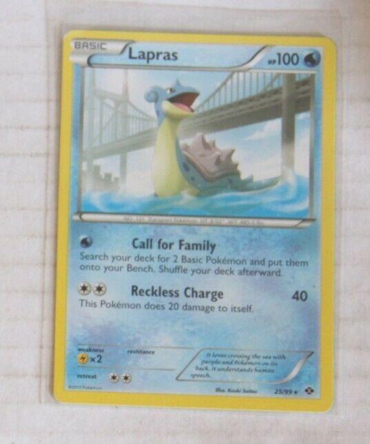 Pokemon Card Lapras Next Destinies 25//99 EXCELLENT//NEAR MINT Reverse Holo Rare!!