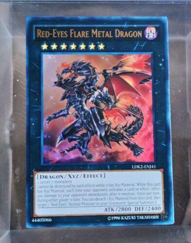 LDK2-ENJ41 Ultra Rare Unl ed NM YuGiOh Red-Eyes Flare Metal Dragon