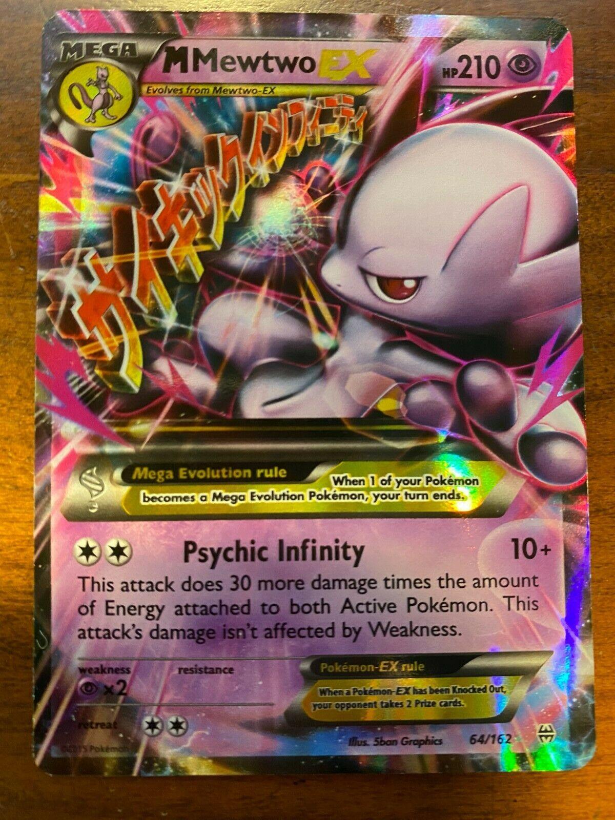 MEGA M MEWTWO EX 64//162 Pokemon TCG XY Breakthrough Ultra Rare Holo NM