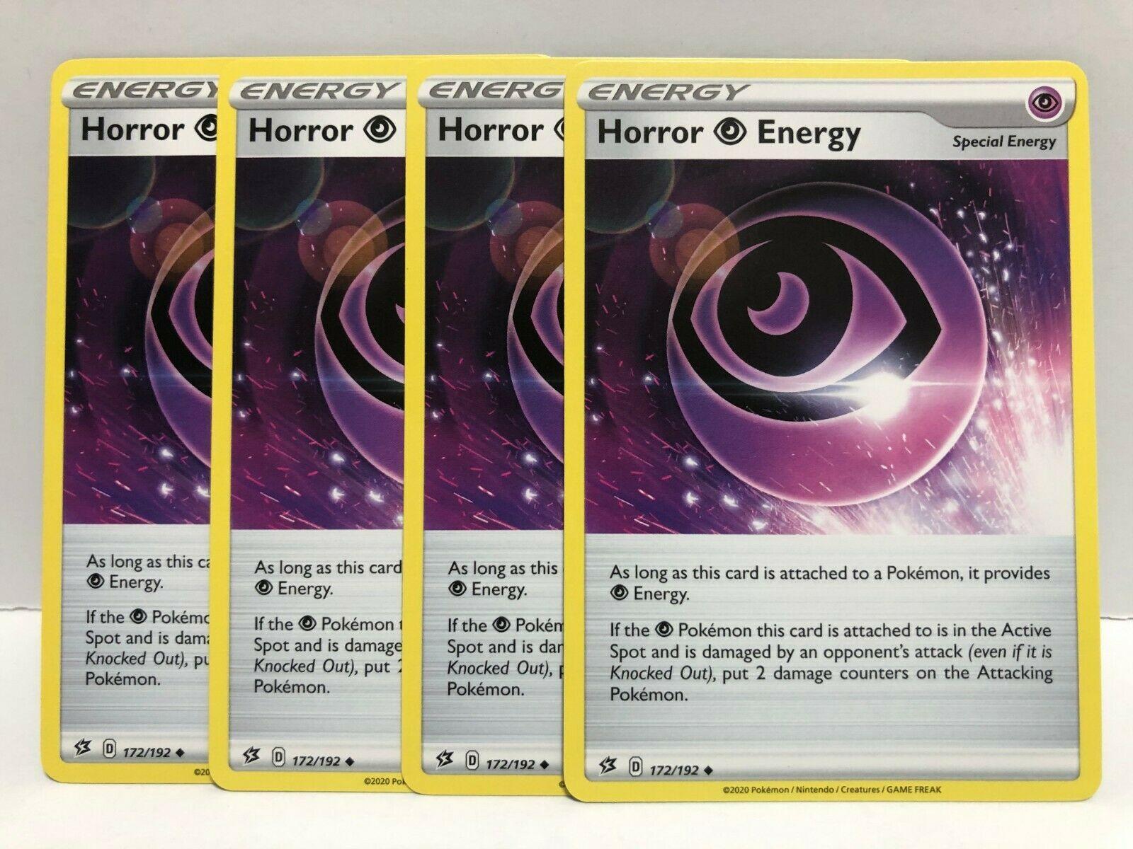 Horror Psychic Energy 172//192 Pokemon TCG Cards NM x4 Cards Playset
