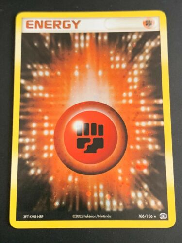 EMERALD-106 Fighting Energy Pokemon EX Emerald Card # 106