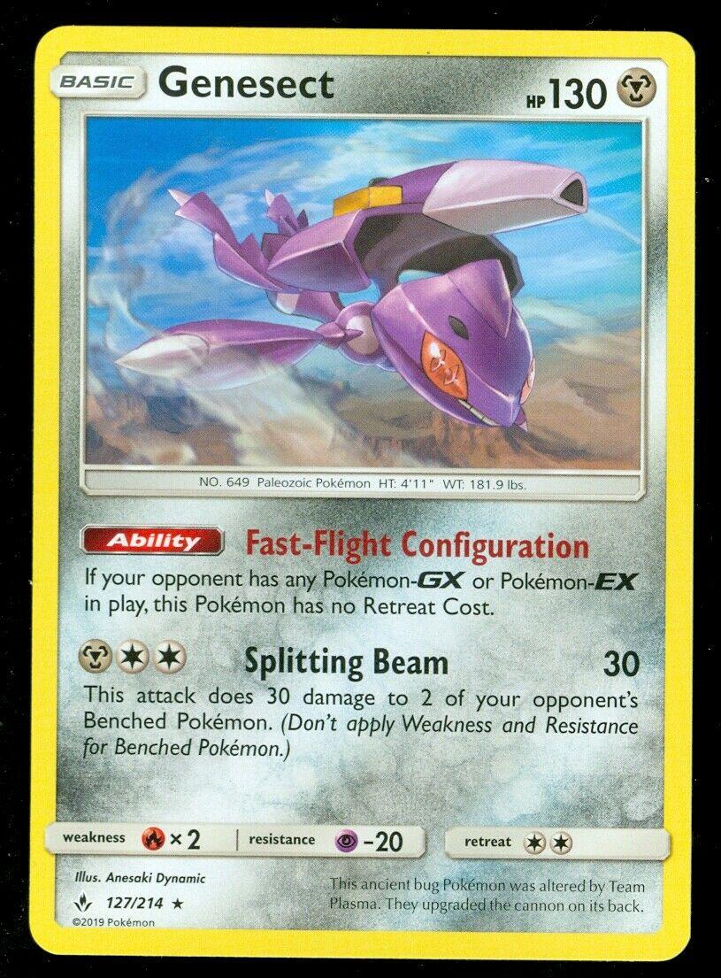 Pokemon GENESECT 127/214 Unbroken Bonds RARE - - MINT