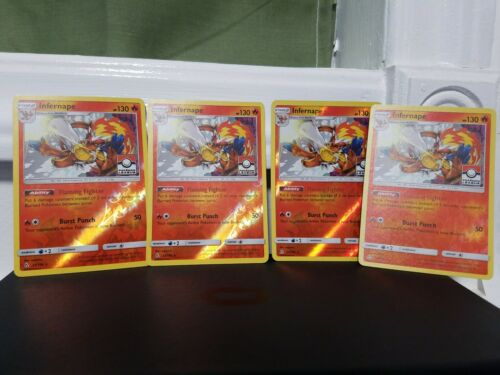 4x4x4 INFERNAPE 23/156 PROMO RARE REVERSE FOIL-ULTRA PRISM-PLUS EVOLUTIONS FREE!