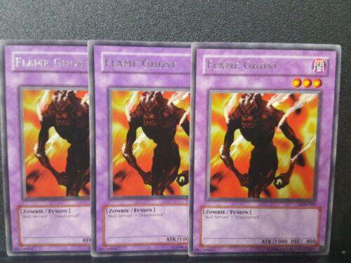 Mixed Yu-Gi-Oh 3x Rare Flame Ghost LOB-E023 LOB-029