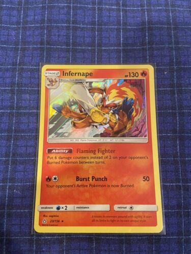 Infernape - 23/156 Holo Foil Pokemon Rare Ultra Prism