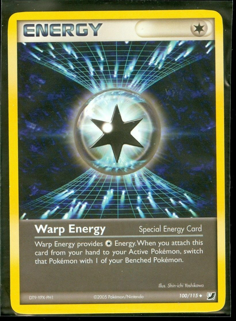 1x Warp Energy 100//115 Reverse Holo EX Unseen Forces Pokemon Card