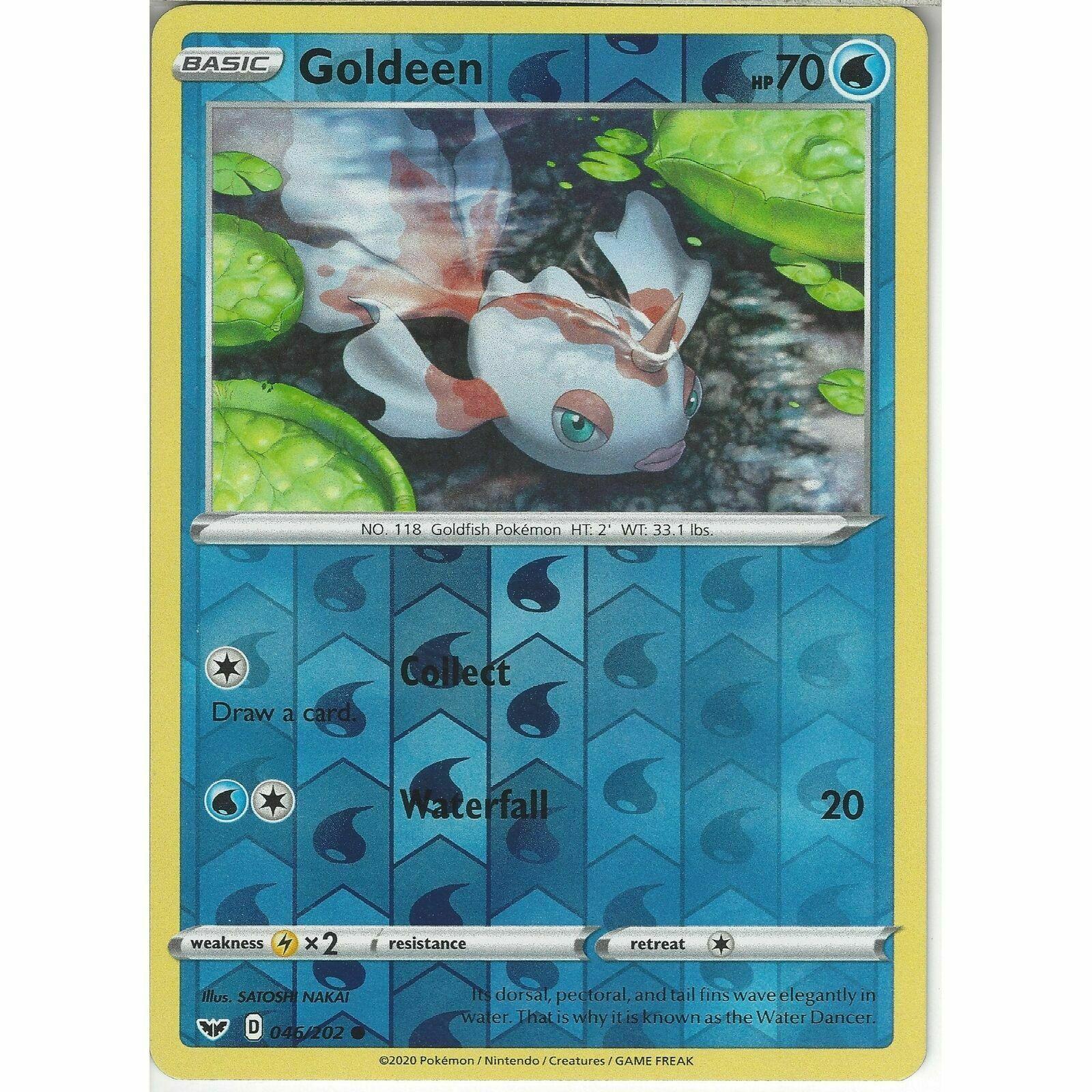 Sword /& Shield Common Reverse Holo Pokemon Card - NM 2020 Goldeen 046//202