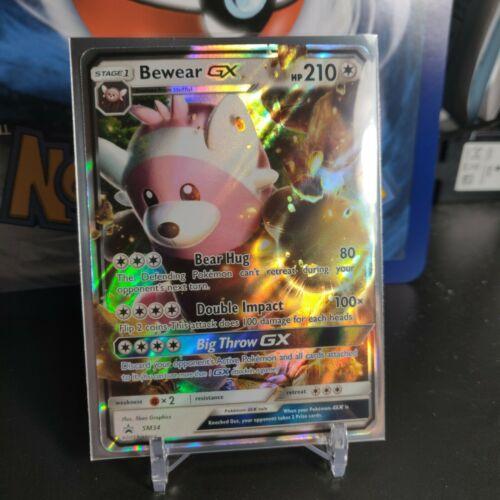 Pokemon Sun /& Moon Black Star Card Bewear GX SM34 Full Art Ex Large Jumbo Promo