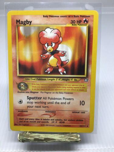 Magby 23//111 Neo Genesis Pokemon Card