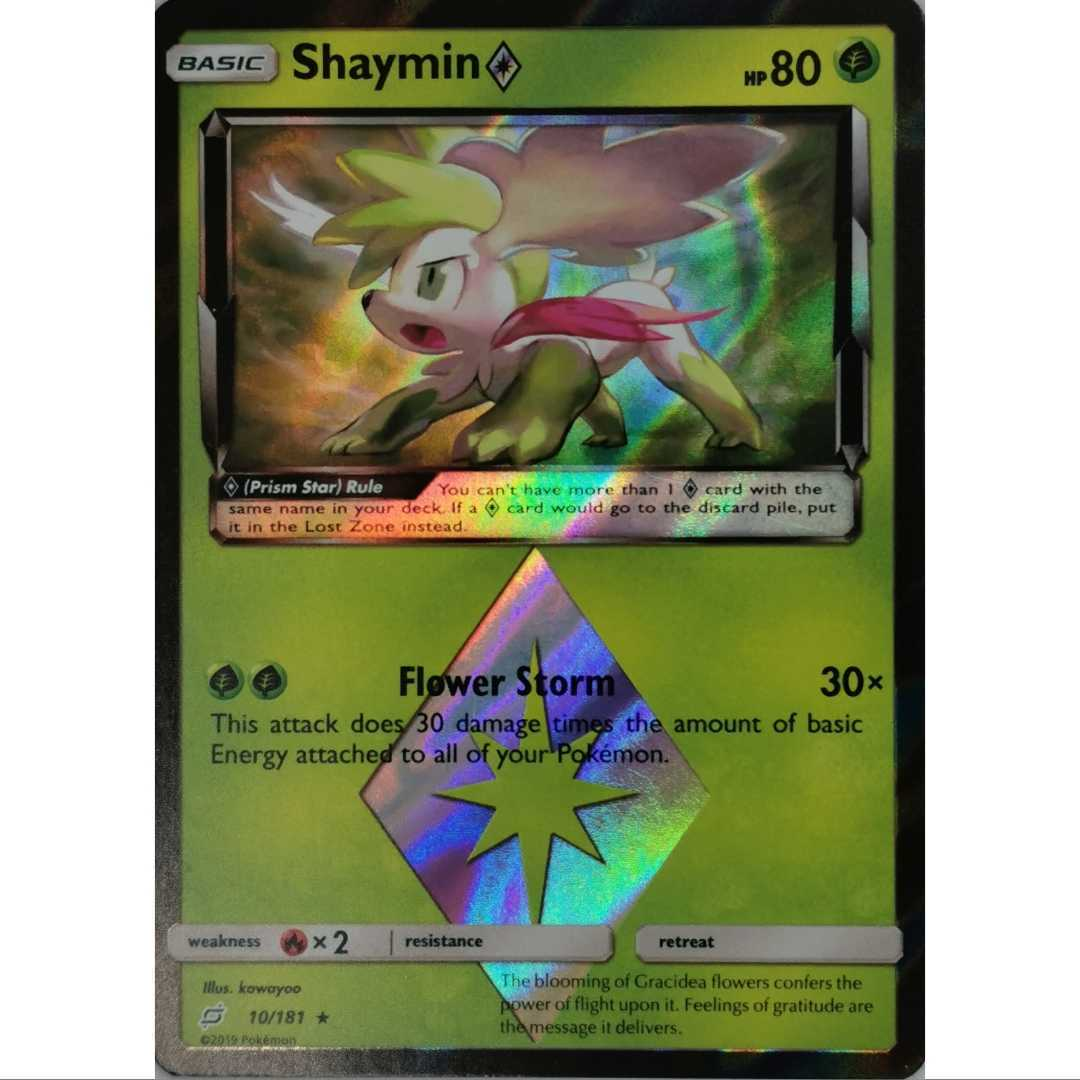 POKEMON Shaymin 10//181 Prism Star HOLO team up INGLESE MINT