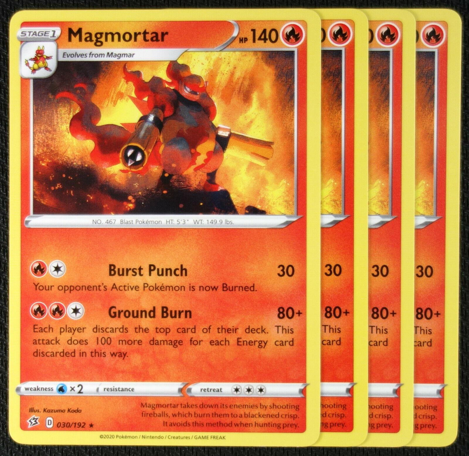 RCL Pokemon Card 30//192 Magmortar Rebel Clash Rare Reverse Holo