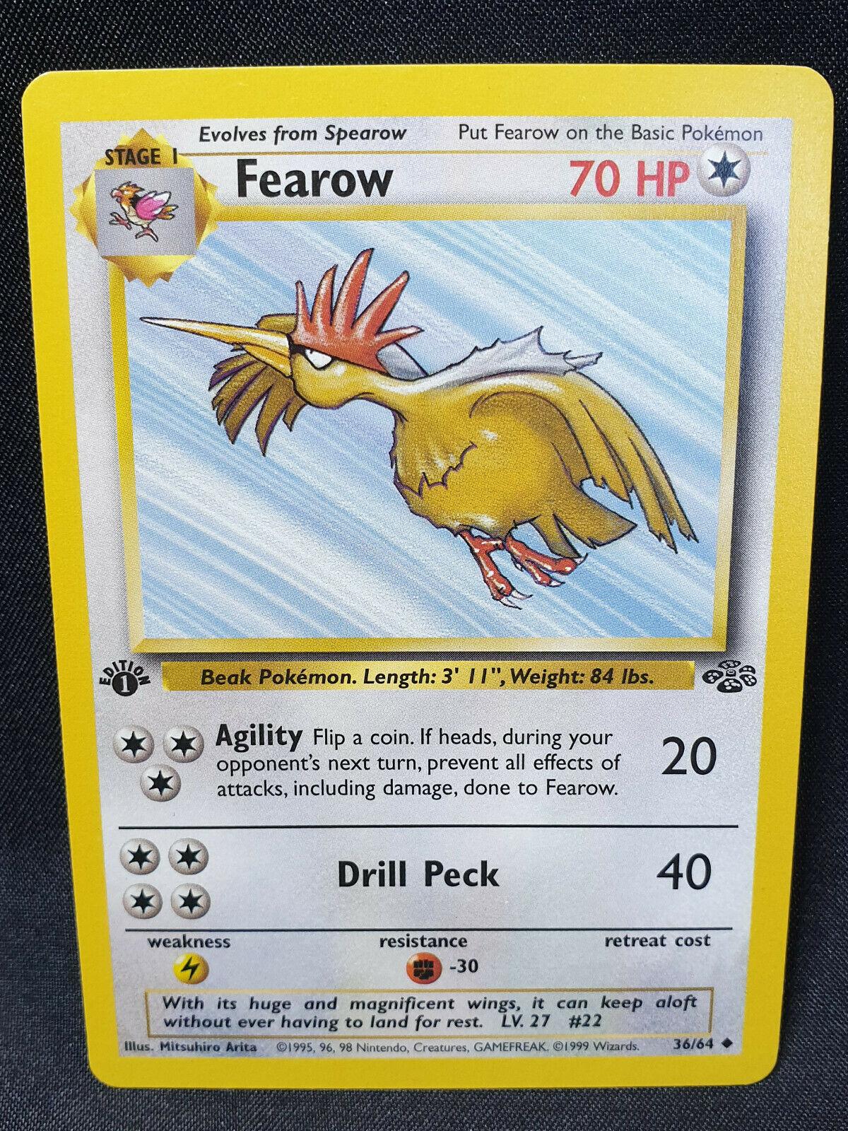 Fearow 36 Jungle Set Uncommon Pokemon Card Near Mint