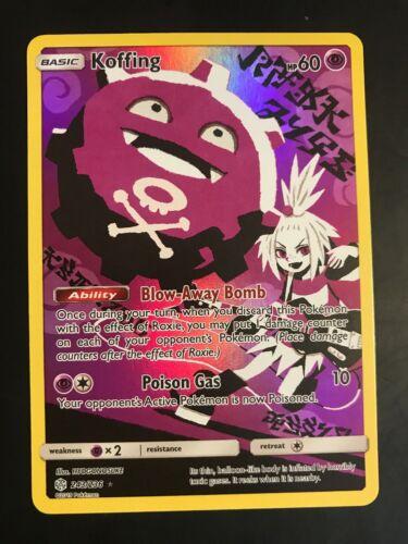 Koffing 243//236 Secret Rare Pokemon Cosmic Eclipse