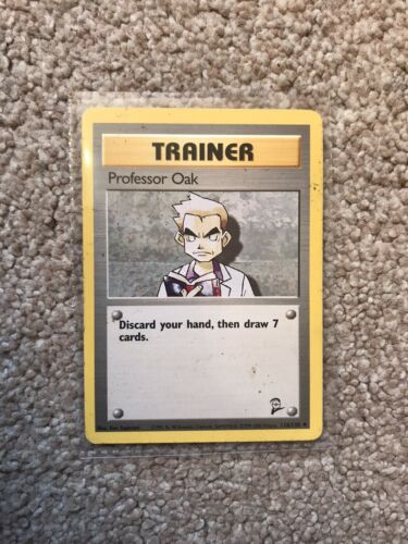 Professor Oak 116//130 Trainer Pokemon Card TCG Base Set 2 NM VG Great Condition