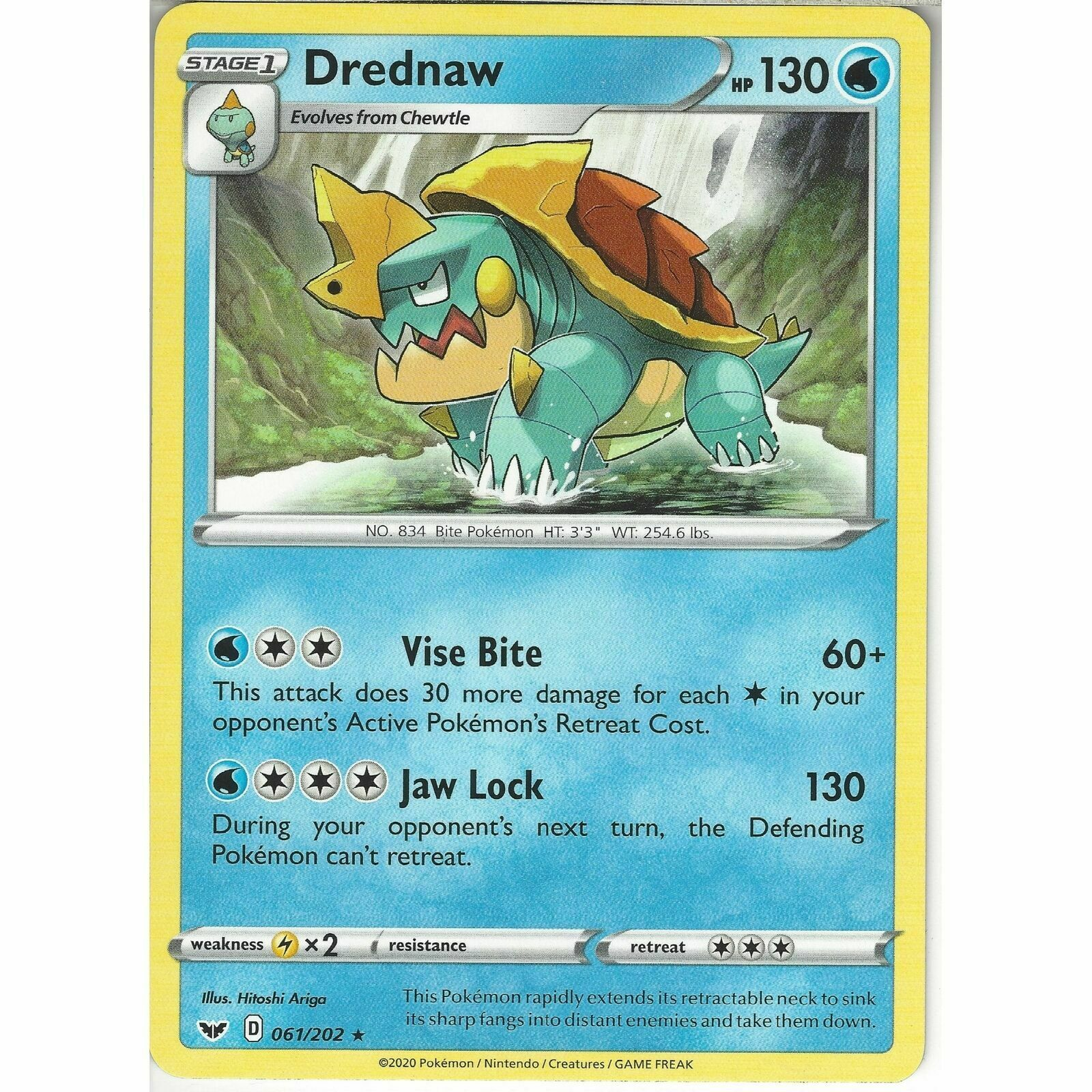061/202 Drednaw | Rare Card | Pokemon TCG Sword and Shield (Base Set) S&S - Image 1