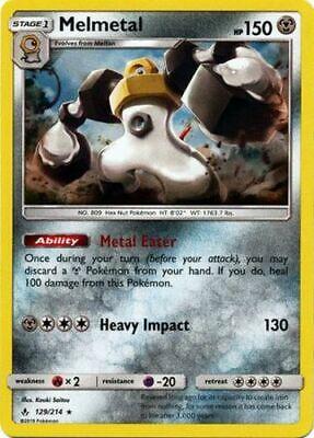 x1 Melmetal - 129/214 - Holo Rare Pokemon SM10 Unbroken Bonds M/NM