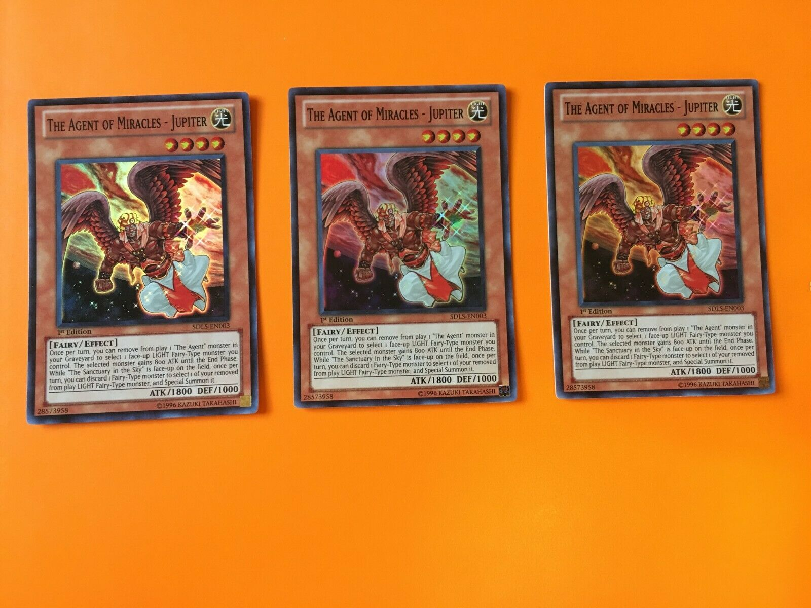 M//NM The Agent of Miracles Jupiter SDLS-EN003 Super Rare 1st Edition 3x