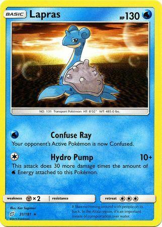 Lapras 31/181 - Rare Pokemon Card - Team Up Set (2019) - NM - Image 2