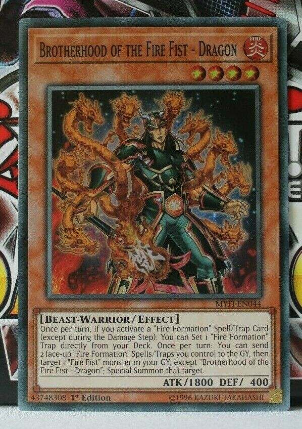 Dragon MYFI-EN044 Super Rare-X3 SELLINGHOT Yugioh Brotherhood of The Fire Fist