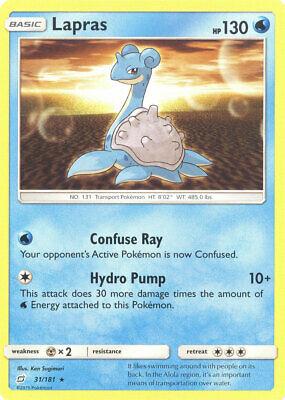 Pokemon Card - Sun & Moon Team Up 31/181 - LAPRAS (rare) - NM/Mint