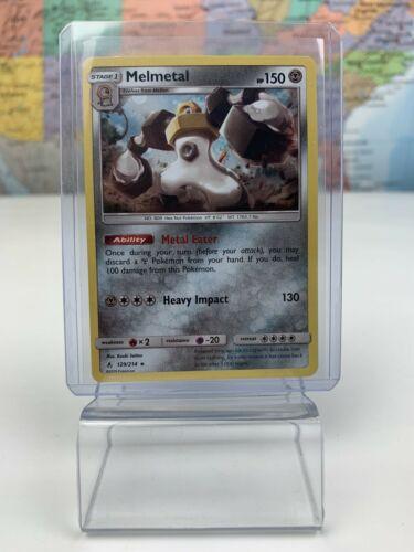 SHIPS SAME DAY Pokemon Card NM Melmetal Holo 129/214 Stage 1 Metal Type Rare TCG