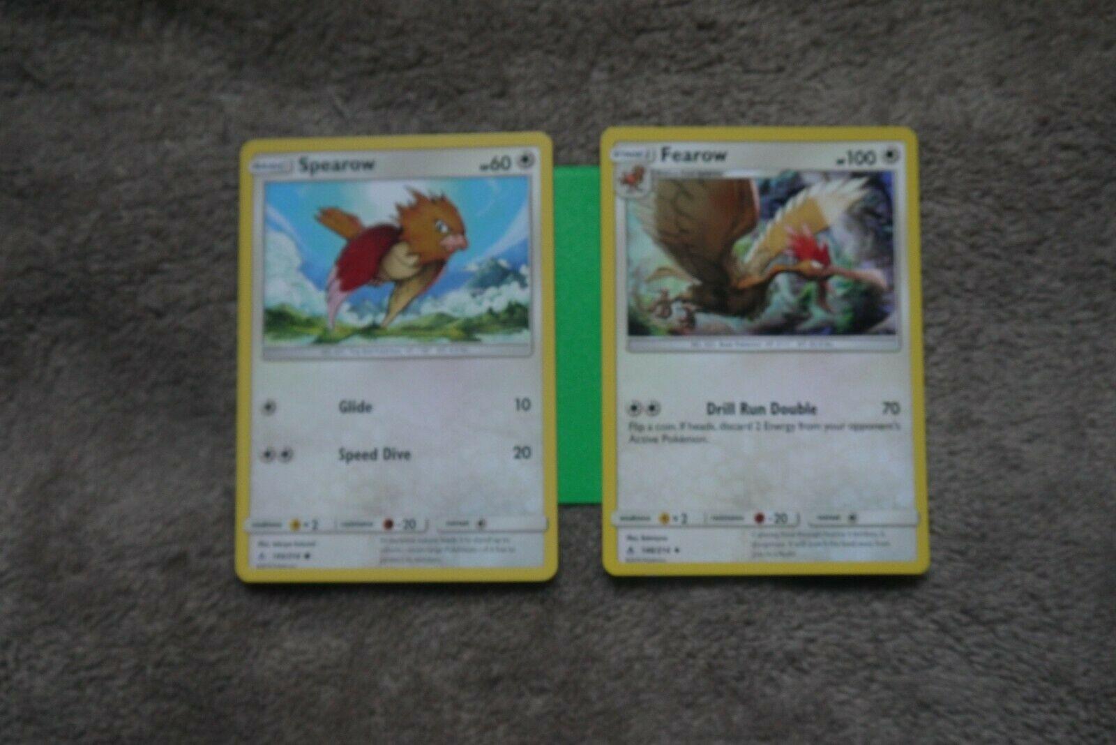 Common Reverse Holo Pokemon SM10 Unbroken Bonds M//NM En x4 Spearow 145//214