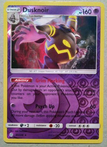 Pokemon - Dusknoir 85/236 - Cosmic Eclipse - Rare - Rev Holo - MINT - Image 1