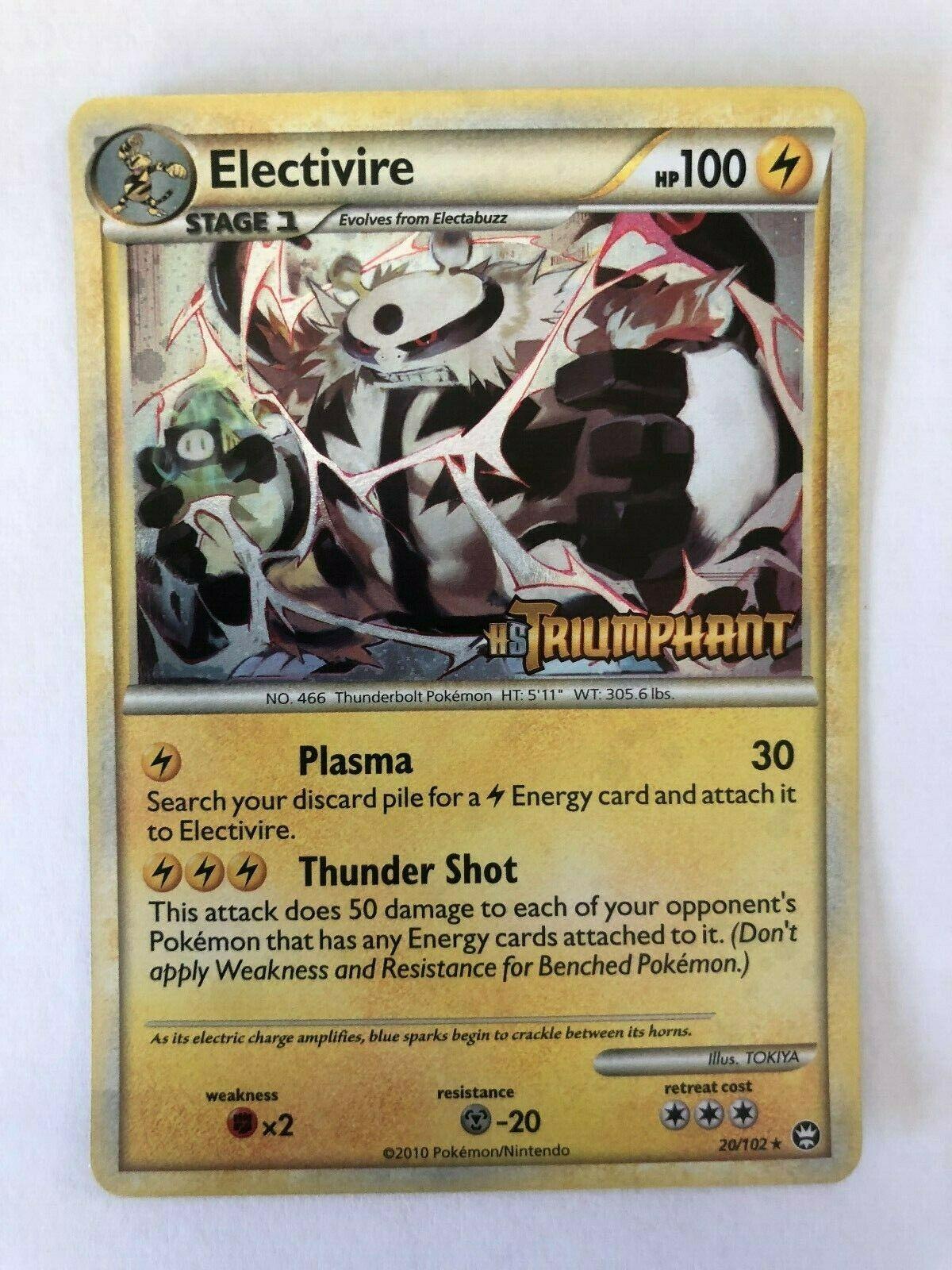 Pokemon HGSS HS Triumphant Prerelease Promo Electivire 20/102 - NM/MT - Image 1
