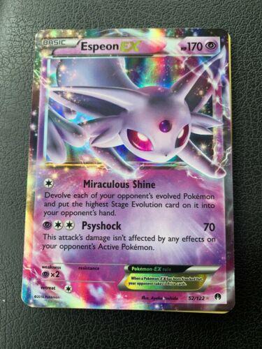 Espeon EX Ultra Rare Pokemon XY Breakpoint NM 52//122