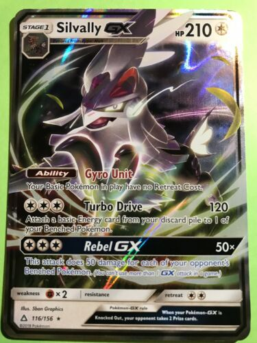 Pokemon SM Sun /& Moon Ultra Prism Card Silvally GX 116//156 Rare Holo Foil