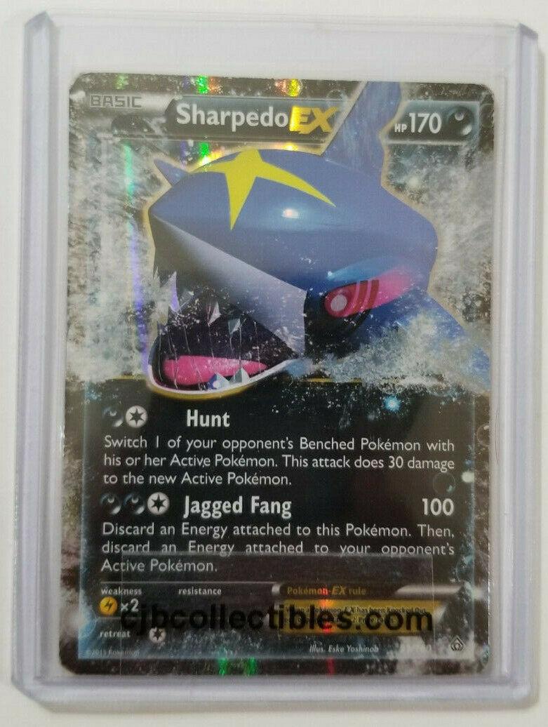 Pokemon SHARPEDO EX 91/160 Holo Ultra Rare Primal Clash - Lightly Played + Bonus
