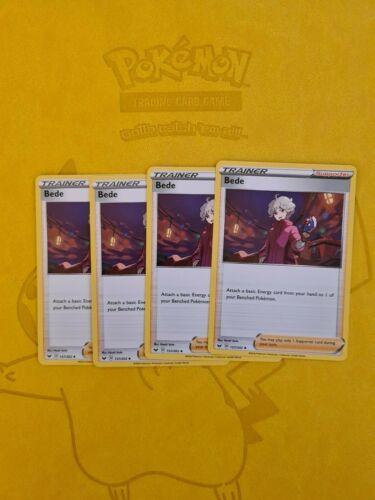Pokemon Sword and Shield Rebel Clash-4 x Bede 157/202- Mint  - Image 1
