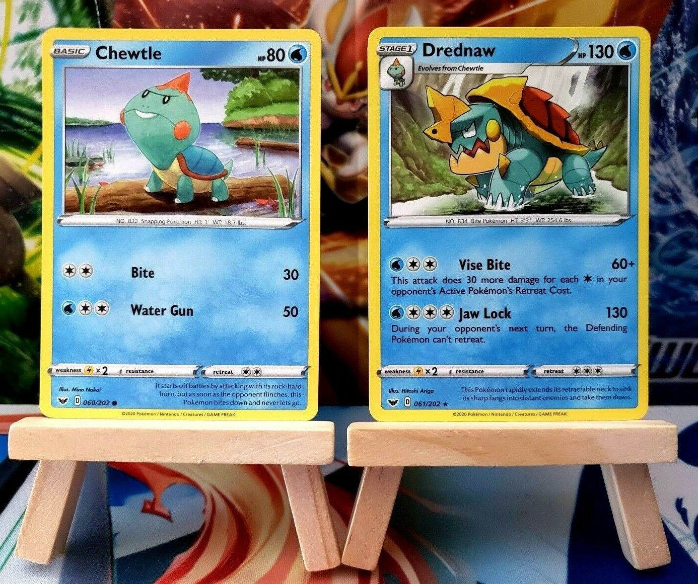 Pokemon Drednaw 061//202 Sword /& Shield Base Set REVERSE HOLO PERFECT MINT