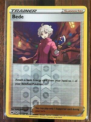 Pokemon Card   BEDE   Reverse Holo TRAINER 157/202 SWORD & SHIELD *M* - Image 1