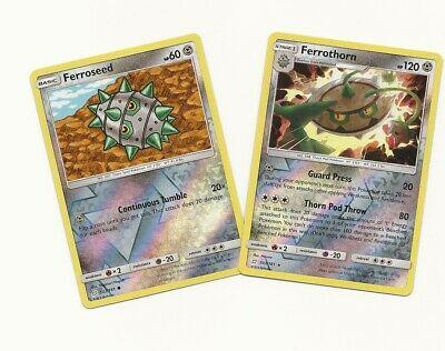 RARE FERROTHORN #103/181 & FERROSEED #102/181 TEAM UP Pokemon- REV HOLO -NM/MINT