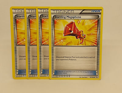 FLASHFIRE Pokemon Cards-Uncommon NM//MINT 4x STARTLING MEGAPHONE 97//106 XY