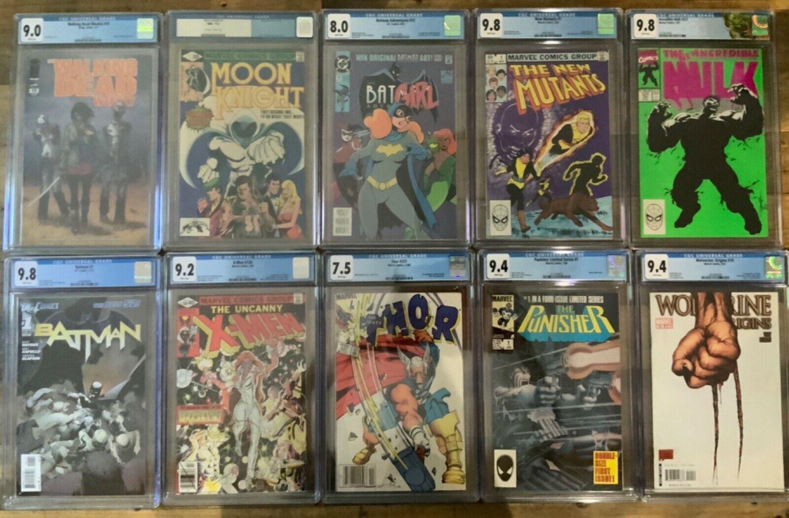 CGC GRAB BAG Batman Adventures 12 MOON KNIGHT 1 X-Men 130 HULK 377 Thor 337