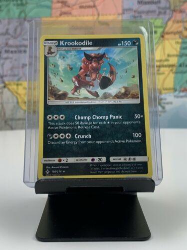 SHIPS SAME DAY Pokemon Card NM/M Krookodile 116/214 Stage 2 Dark Type 2019 Rare