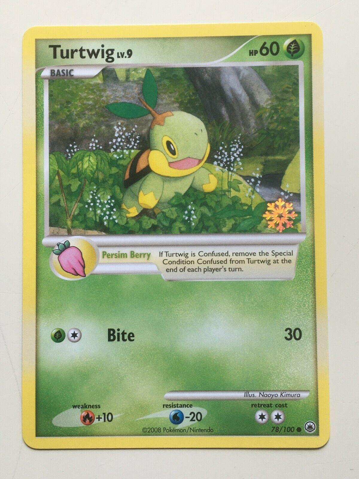 78//100 Pokemon Countdown Calendar Promo NM Promo Pokemon 3DY Turtwig