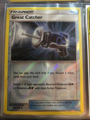 Great Catcher 192//236 Cosmic Eclipse Uncommon REVERSE HOLO Pokemon Card NM