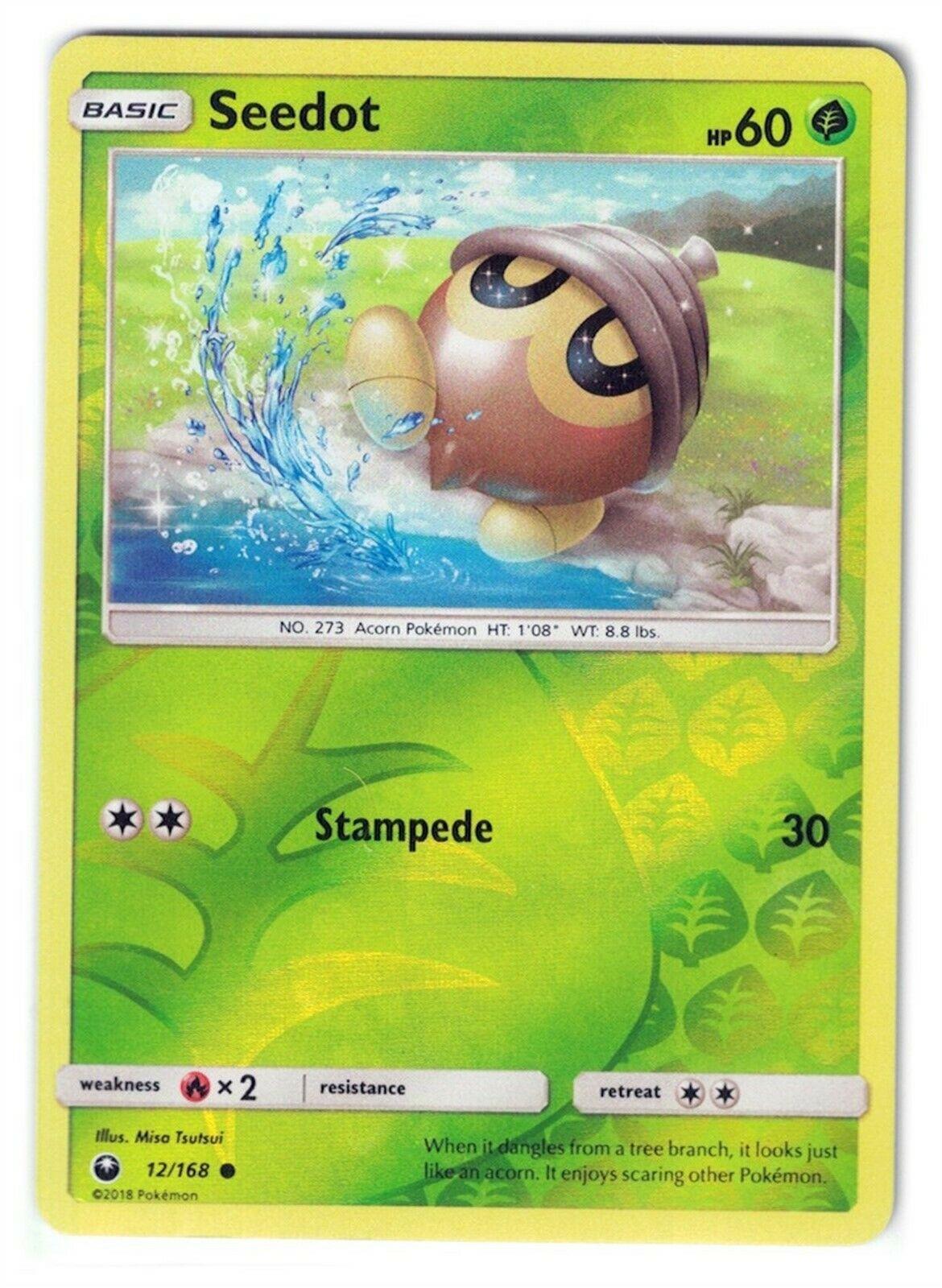 Pokemon SM Celestial Storm Card 12//168 Seedot Reverse Holo
