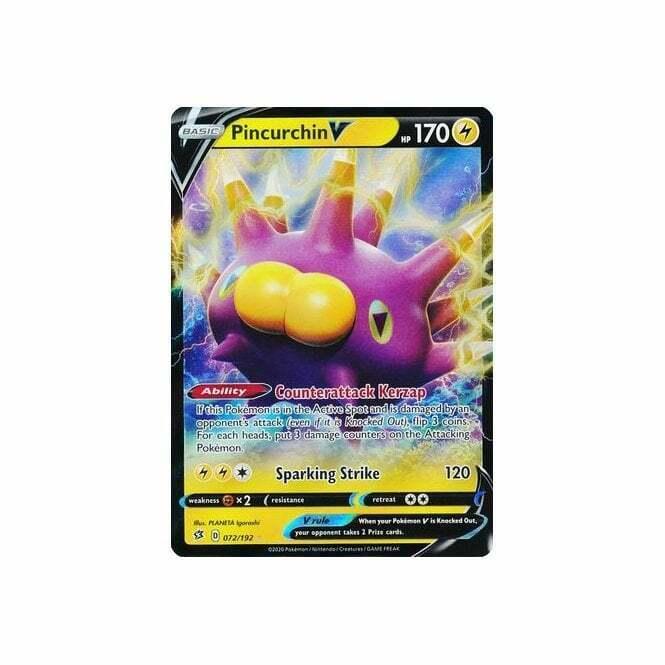 Pokemon Sword and Shield Rebel Clash Pincurchin V 072//192 Pack Fresh