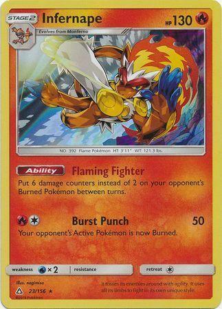 Infernape 23/156 - Rare Holo Pokemon Card - Ultra Prism (2018) - NM