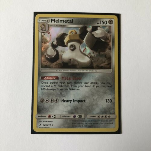 Pokemon TCG Melmetal 129/214 Holo Rare SM Unbroken Bonds