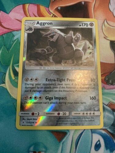 Aggron 125/214 Unbroken Bonds Reverse Holo Rare NM