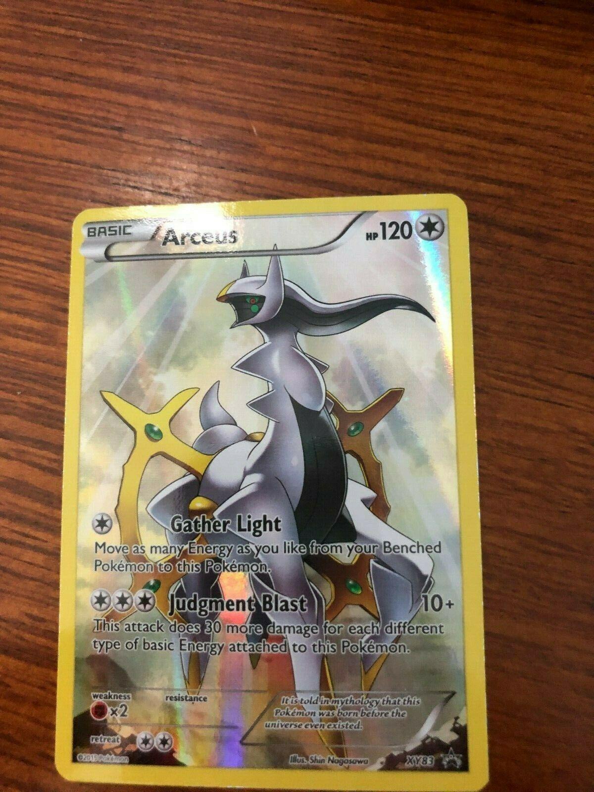 Arceus XY83 Full Art Mint Condition Pokemon Card